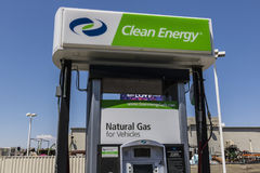 Las Vegas - Circa July 2017: Clean Energy Fuels Natural Gas Station. Clean Energy distributes Compressed natural gas III. Clean Energy Fuels Natural Gas Station Stock Photos