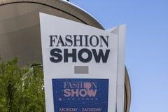Las Vegas - Circa July 2017: Fashion Show Mall on the Las Vegas Strip. With over 250 stores, Fashion Show Mall is a destination I. Fashion Show Mall on the Las Stock Photography