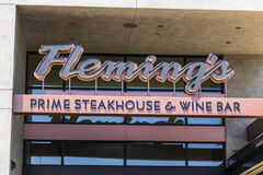 Las Vegas - Circa July 2017: Fleming`s Prime Steakhouse and Wine Bar. Fleming`s is a steakhouse owned by Bloomin` Brands II. Fleming`s Prime Steakhouse and Wine royalty free stock image
