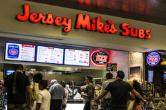 Las Vegas - Circa July 2017: Jersey Mike`s Subs Fast Food Restaurant. Jersey Mike`s Subs is a sub sandwich chain II Stock Image
