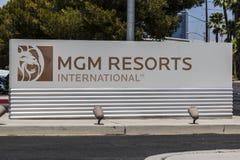 Las Vegas - Circa July 2017: MGM Resorts International office. MGM Resorts International is a global hospitality company I. MGM Resorts International office. MGM Royalty Free Stock Photo