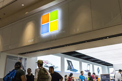 Las Vegas - Circa July 2017: Microsoft Retail Technology Store. Microsoft develops and manufactures Windows software VIII Stock Photography