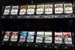 Las Vegas - Circa July 2017: Packs of Marlboro Cigarettes in a vending machine. Marlboro is a product of the Altria Group IV Stock Images
