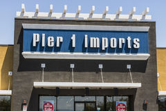 Las Vegas - Circa July 2017: Pier 1 Imports Retail Strip Mall Location. Pier 1 Imports Home Furnishings and Decor IV Royalty Free Stock Photography