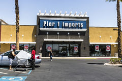 Las Vegas - Circa July 2017: Pier 1 Imports Retail Strip Mall Location. Pier 1 Imports Home Furnishings and Decor V Stock Photography