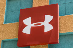 Las Vegas - Circa July 2017: Under Armour outlet shop. Under Armour manufactures a popular line of sporting equipment apparel III. Under Armour outlet shop Stock Images