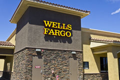 Las Vegas - Circa July 2016:  Wells Fargo Retail Bank Branch. Wells Fargo is a Provider of Financial Services VI Royalty Free Stock Photography