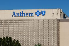 Anthem Blue Cross Nevada Headquarters. Anthem is a Trusted Health Insurance Plan Provider III. Las Vegas - Circa June 2019: Anthem Blue Cross Nevada Headquarters royalty free stock photography