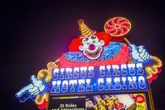 Las Vegas cirkuscirkus Arkivfoto