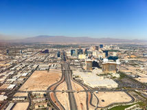 Las Vegas city from the air. Stock Photo