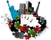 Las Vegas city gambling Stock Images