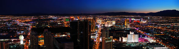 Las Vegas City skyline panorama Royalty Free Stock Photography