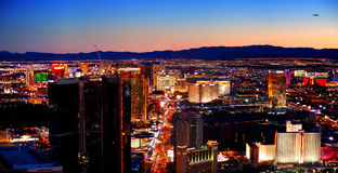 Las Vegas City Skyline panorama Royalty Free Stock Images