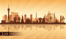 Las Vegas city skyline silhouette background Stock Photo