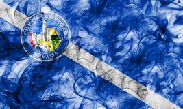 Las Vegas city smoke flag, Nevada State, United States Of Americ. A Royalty Free Stock Photos