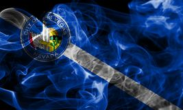 Las Vegas city smoke flag, Nevada State, United States Of Americ. A Royalty Free Stock Photography