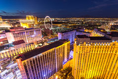 Las Vegas cityscape royaltyfria bilder