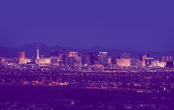 Las Vegas Cityscape at Night Stock Image
