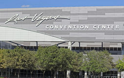 Las Vegas convention center. Convention center building in Las Vegas, showing Las Vegas Convention Center sign Royalty Free Stock Image