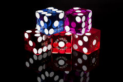 Las Vegas Craps Game Dice Royalty Free Stock Photo