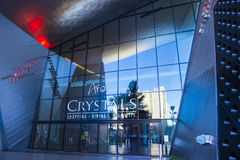 Las Vegas Crystals mall Stock Images