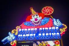 Las Vegas, Cyrkowy cyrk obraz royalty free