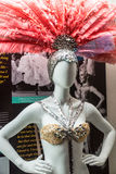 Las Vegas Dancer Costume Display Royalty Free Stock Image