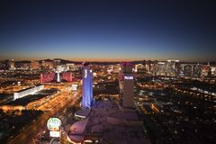 Las Vegas Dawn Royalty Free Stock Photos