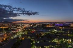 Las Vegas Dawn Flamingo Road East of the Strip Royalty Free Stock Photo