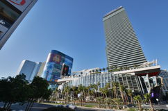 Las Vegas by day. Cosmopolitan hotel and casino with palms, bars and pool Stock Photography