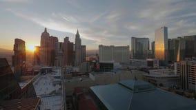Las Vegas in de avond - mooie mening over de strook - de V.S. 2017 stock footage
