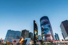 LAS VEGAS - 21 DE DEZEMBRO: Casinos famosos de Las Vegas fotos de stock royalty free