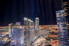 Las Vegas - 12 de dezembro de 2013: Casinos famosos de Las Vegas em Decem Imagens de Stock