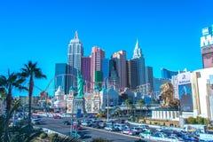 Las Vegas - 12 de dezembro de 2013: Casinos famosos de Las Vegas em Decem Fotografia de Stock Royalty Free