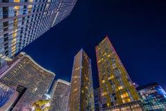 Las Vegas - 12 de dezembro de 2013: Casinos famosos de Las Vegas em Decem Fotos de Stock