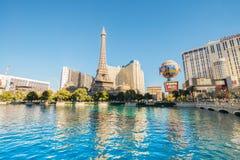 Las Vegas - 12 de dezembro de 2013: Casinos famosos de Las Vegas em Decem Imagem de Stock