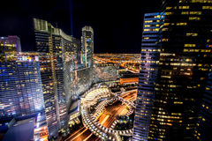 Las Vegas - 12 de dezembro de 2013: Casinos famosos de Las Vegas em Decem Fotografia de Stock