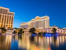 LAS VEGAS - 21 DE DICIEMBRE: Casino de Bellagio encendido Foto de archivo libre de regalías