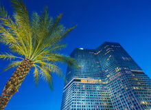 Las Vegas - 12 de diciembre de 2013: Casinos famosos de Las Vegas en Decem fotografía de archivo
