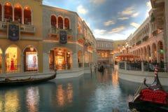LAS VEGAS - 31 DE ENERO: El hotel turístico y el casino venecianos en Las Fotos de archivo libres de regalías