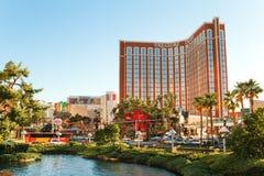 Las Vegas - 17 de junho de 2013: Vista no hotel da ilha do tesouro no Foto de Stock Royalty Free
