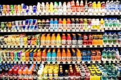 Bebidas da água & da energia Fotografia de Stock