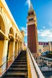 LAS VEGAS - 31 de mayo de 2017 - el casino veneciano del hotel turístico es a Foto de archivo libre de regalías