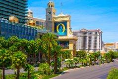 Las Vegas, de Verenigde Staten van Amerika - Mei 05, 2016: Luxehotel Bellagio Stock Foto