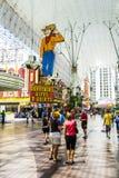 Fremont Uliczny doświadczenie w w centrum Las Vegas przyciąganie Fotografia Stock