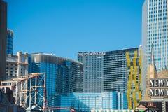 Las Vegas - DECEMBER 13, 2013: Las Vegas Casinos on December 13 stock photos