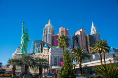 Las Vegas - DECEMBER 13, 2013: Las Vegas Casinos on December 13 royalty free stock photography