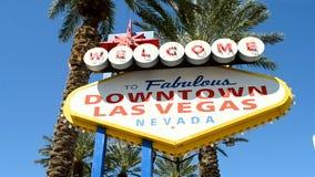 Las Vegas del centro firma dentro il LV, Nevada, U.S.A., video d archivio