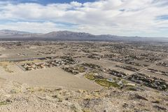Las Vegas Desert Development Royalty Free Stock Photography