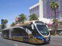 Las Vegas Deuce Bus on the Strip Royalty Free Stock Image